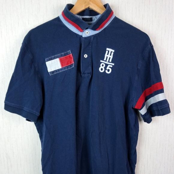 b07bee1c Tommy Hilfiger Shirts | Rugby Polo Shirt Flag Logo 9 Xl | Poshmark